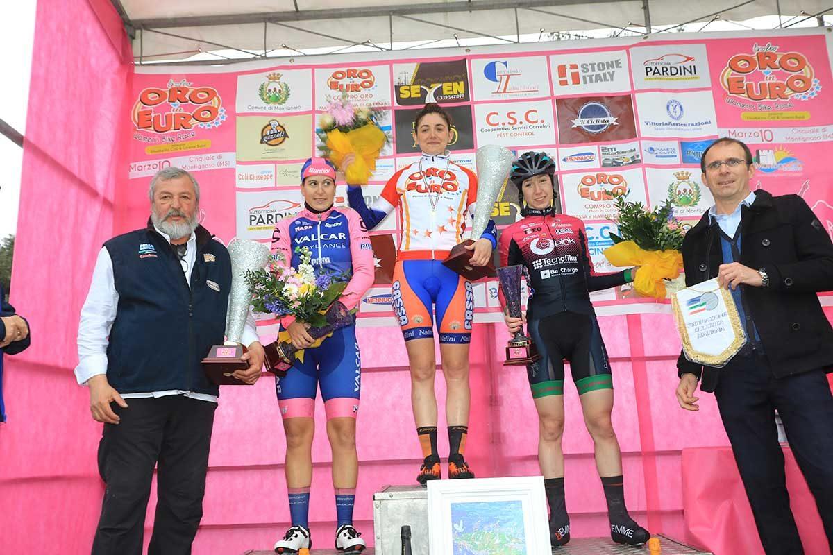 Il podio del Trofeo Oro in Euro di Montignoso (foto Fabiano Ghilardi)