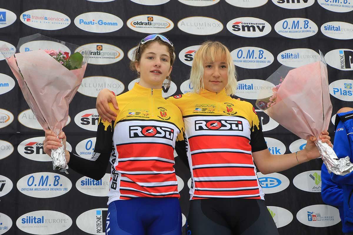 Vittoria Pirro e Marta Pavesi campionesse provinciali delle Donne Esordienti (foto Fabiano Ghilardi)