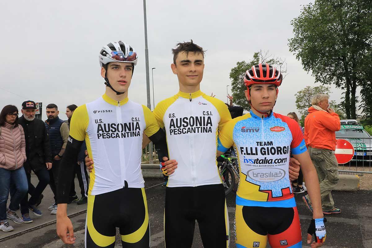 Il podio del Trofeo Plastik 2019 (foto Fabiano Ghilardi)