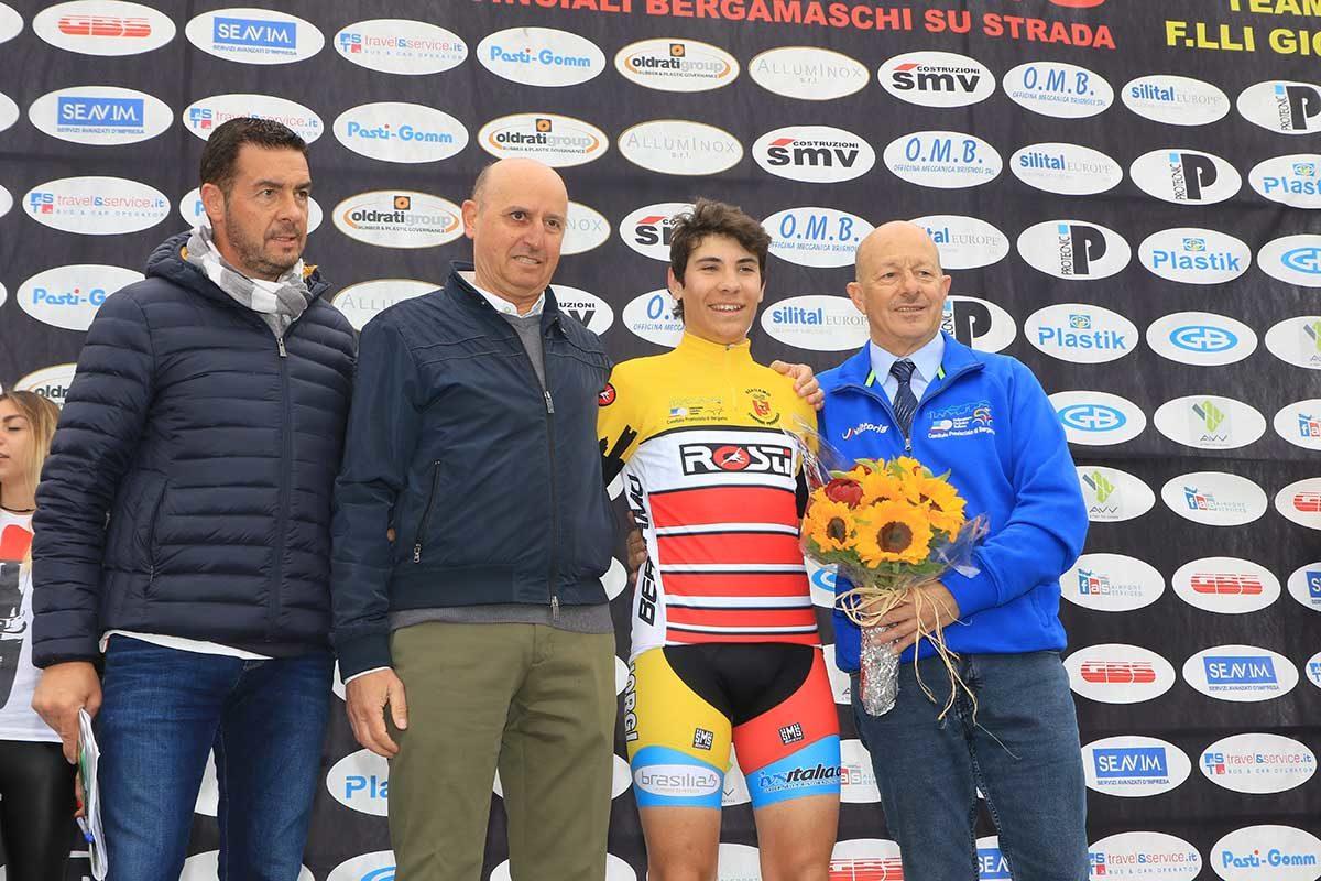 Mirko Fontana campione provinciale bergamasco Allievi (foto Fabiano Ghilardi)