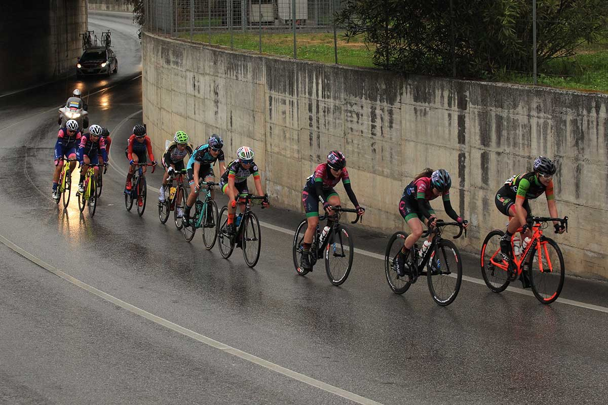 La fuga di giornata in azione a Montignoso (foto Fabiano Ghilardi)