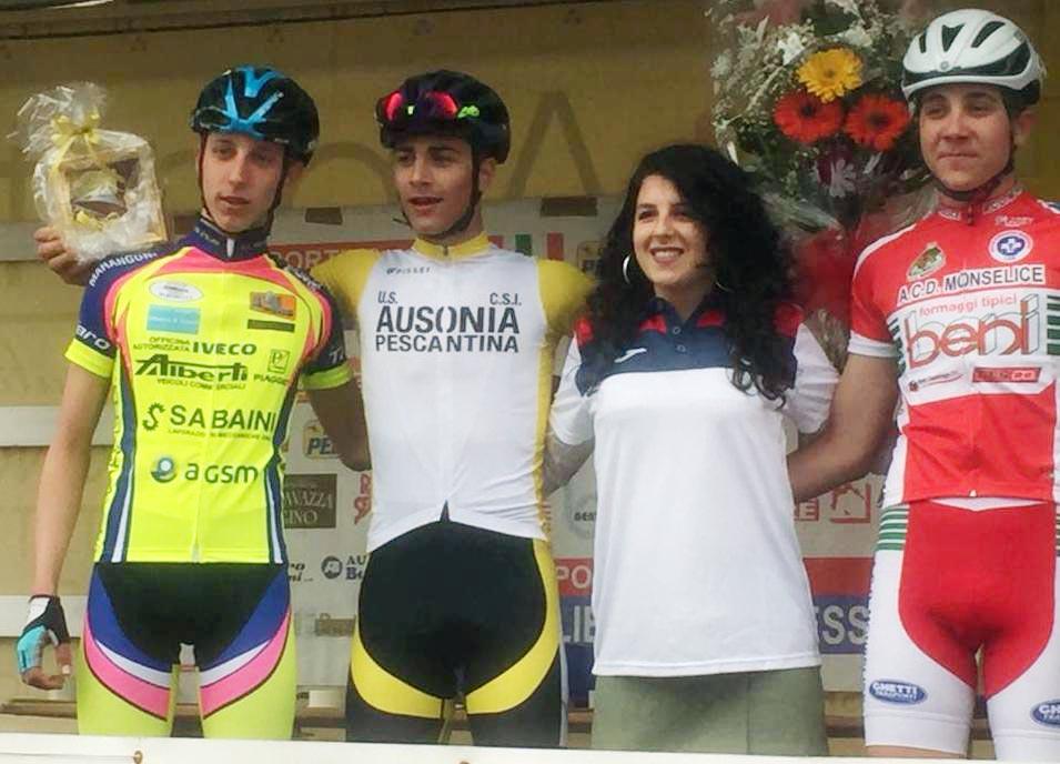 Il podio della gara Allievi di Pressana