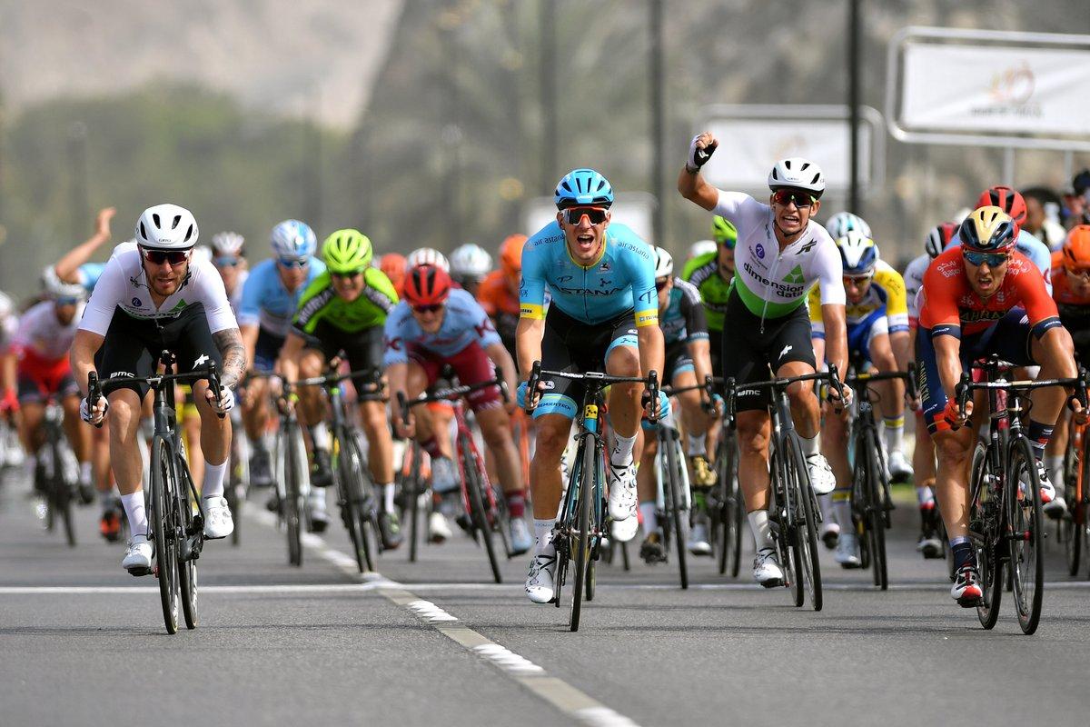 Giacomo Nizzolo vincitore dell'ultima tappa del Tour of Oman 2019