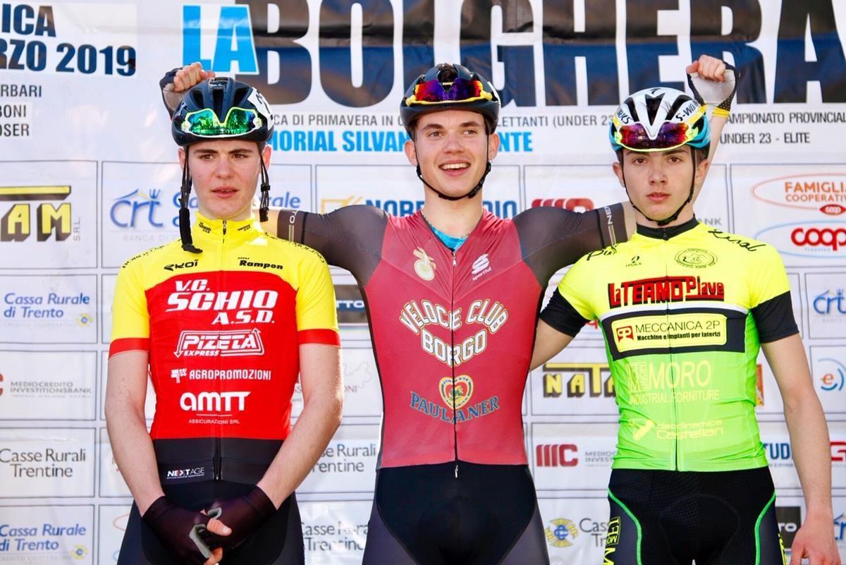 Il podio della 110/ La Bolghera per Allievi vinta da Andrea Dalvai (foto Photobicicailotto)