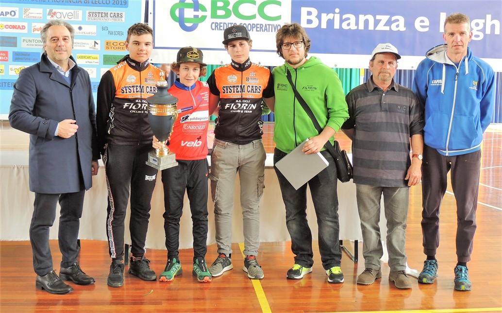 La premiazione della Cicli Fiorin (foto Angelo Mambretti)