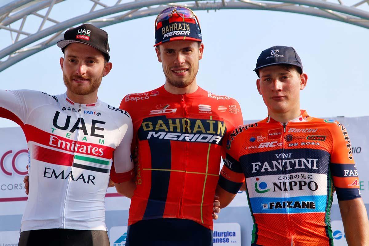 Il podio della Coppa Bernocchi 2019 (foto Photobicicailotto)