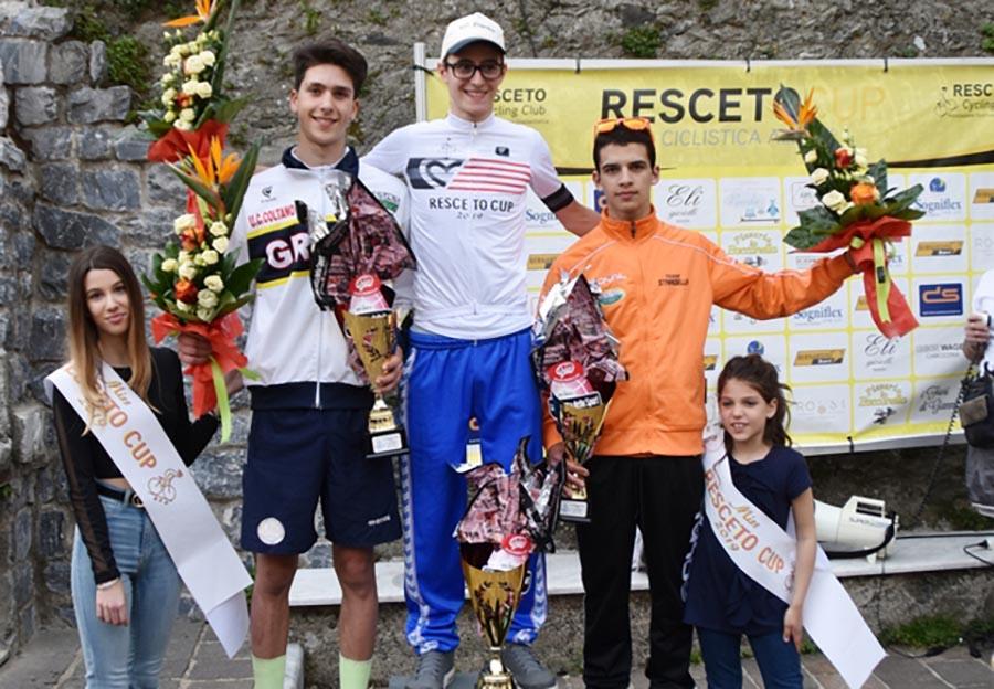 Il podio della 2/a Resceto Cup (foto Roberto Fruzzetti)