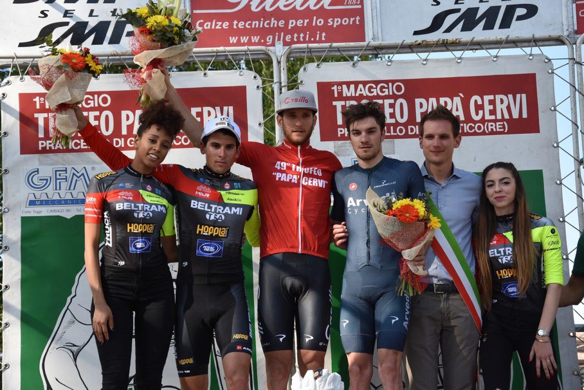 Il podio del Trofeo Papà Cervi 2019