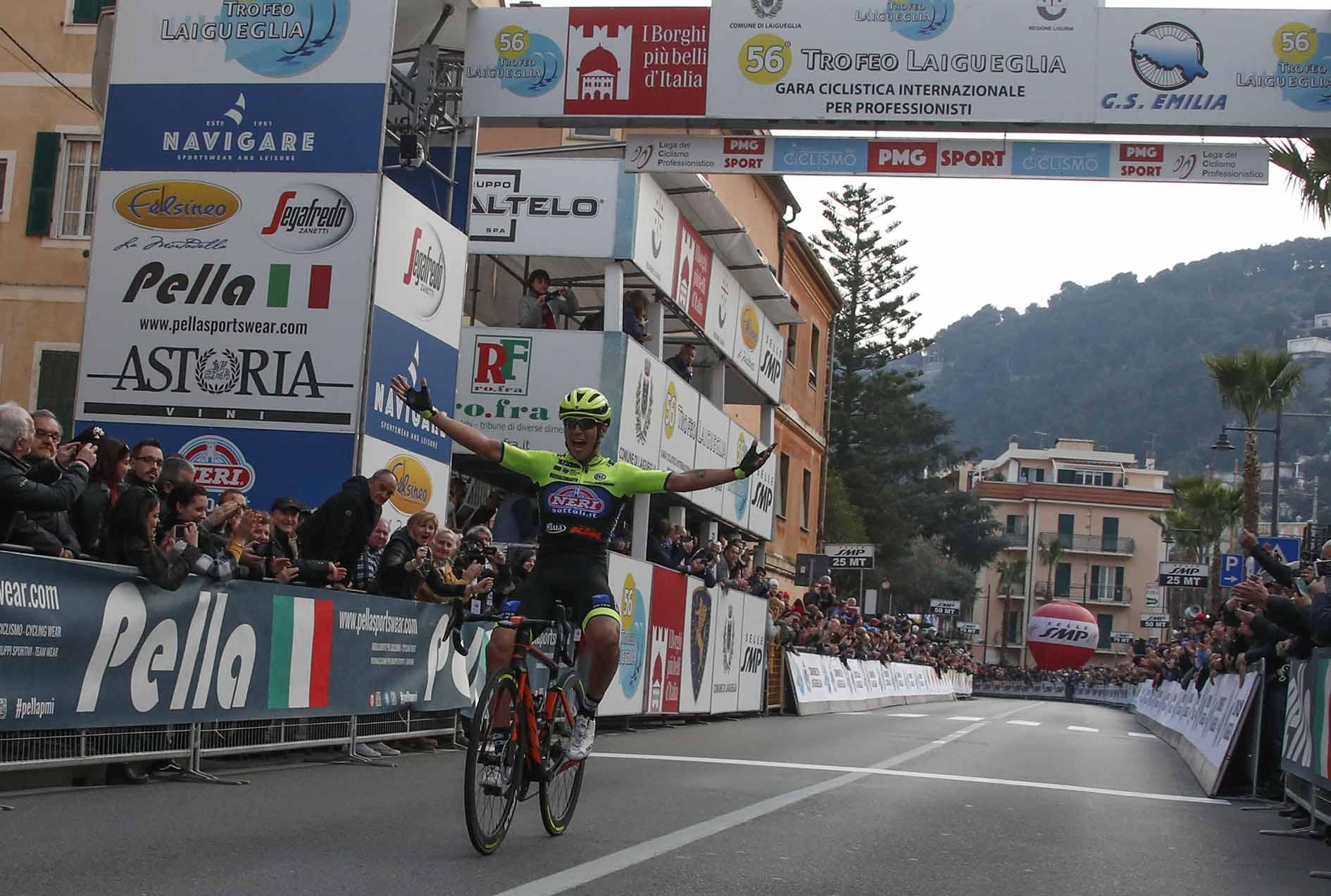 Simone Velasco vince il Trofeo Laigueglia 2019