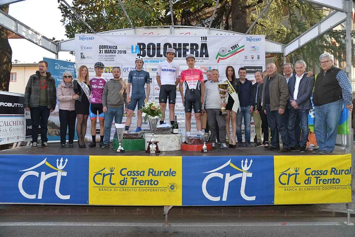 Il podio della 110/a La Bolghera (foto Remo Mosna)