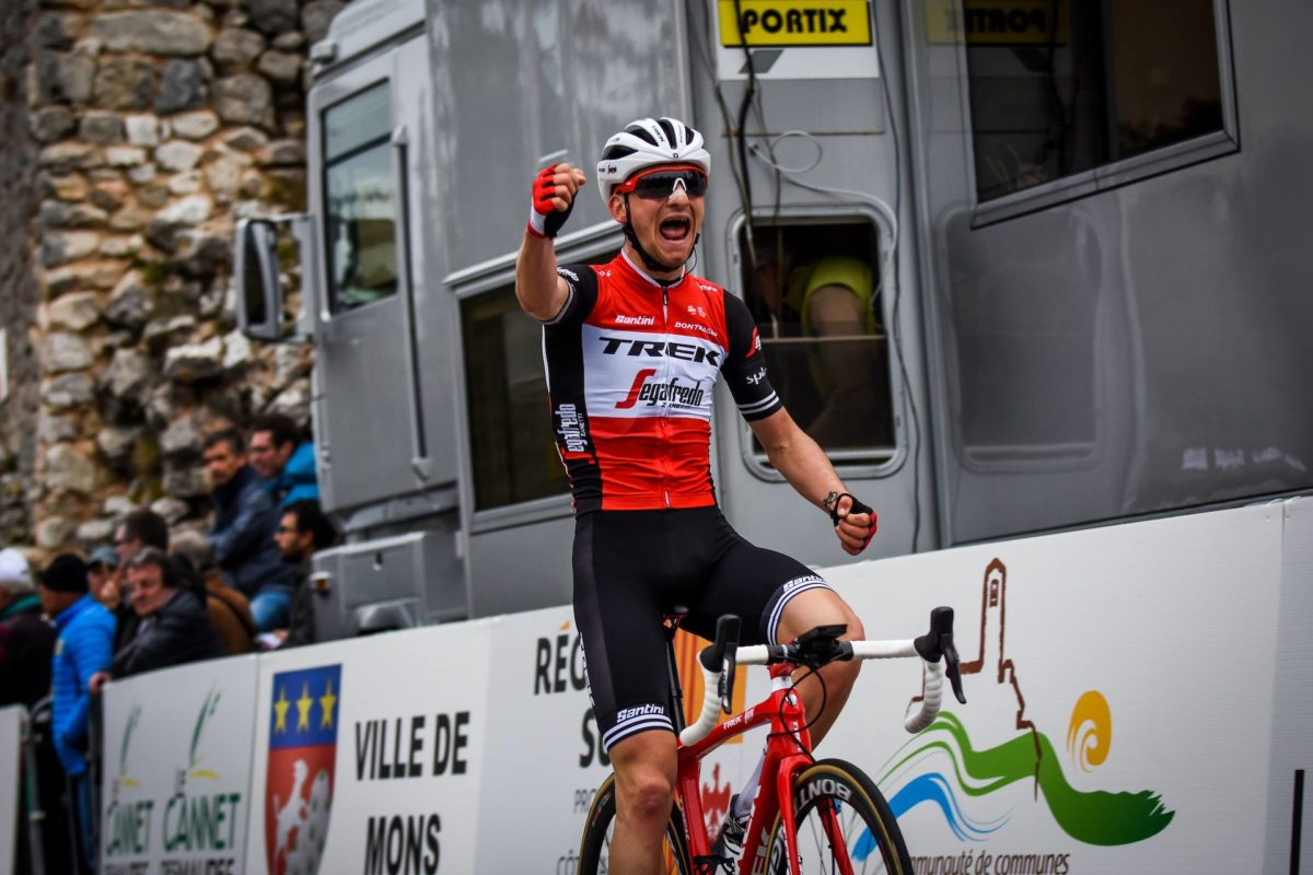 Giulio Ciccone vince la la seconda tappa del Tour du Haut Var