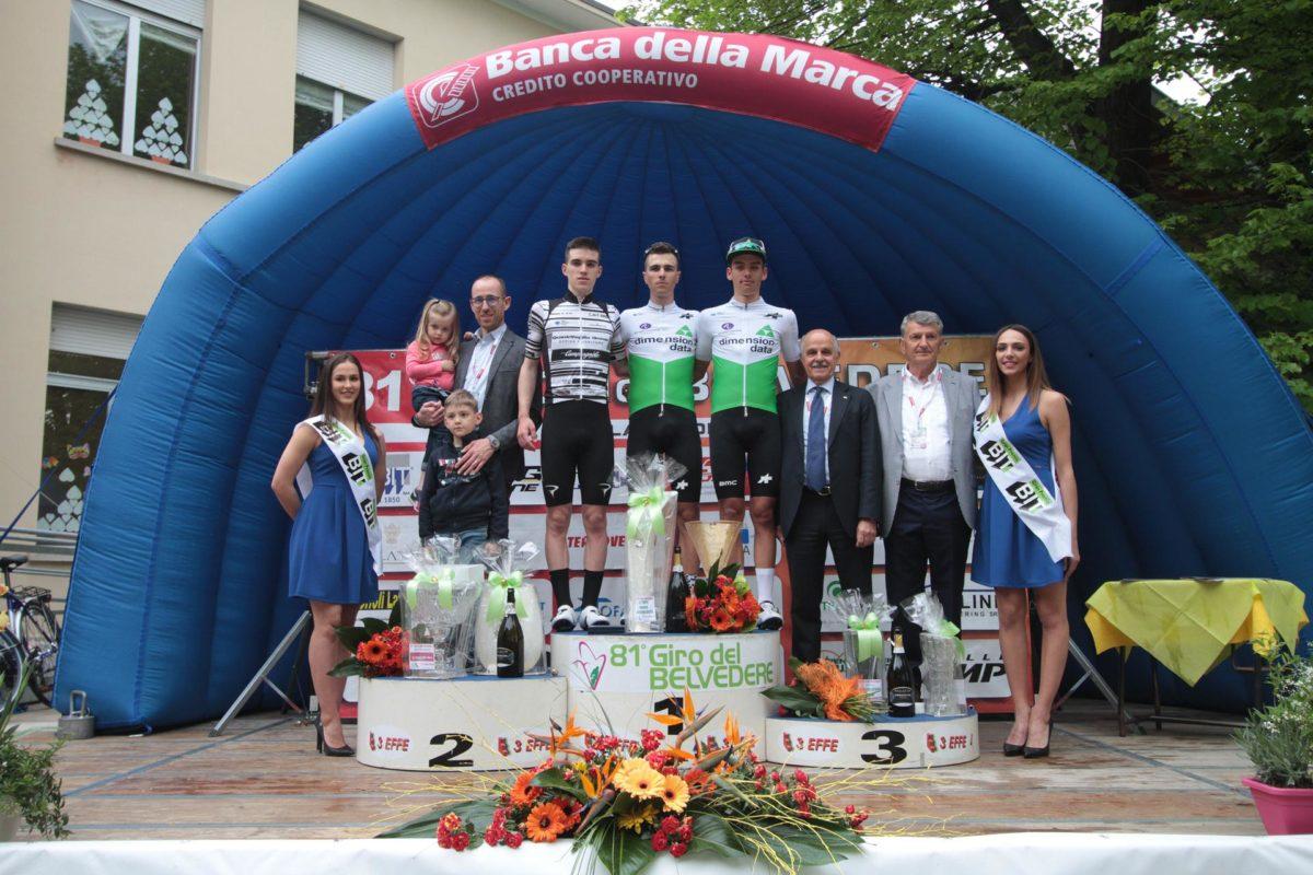 Il podio del Giro del Belvedere (foto Bolgan)