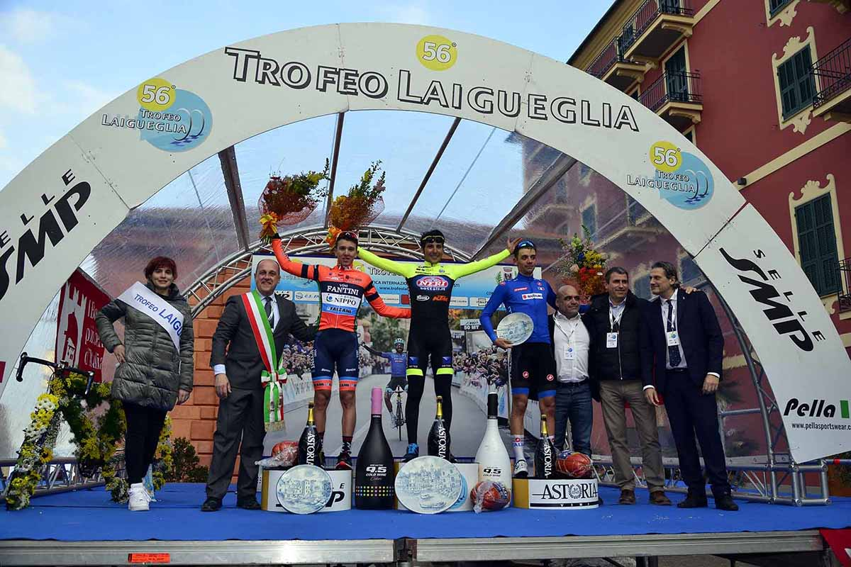 Il podio del Trofeo Laigueglia 2019