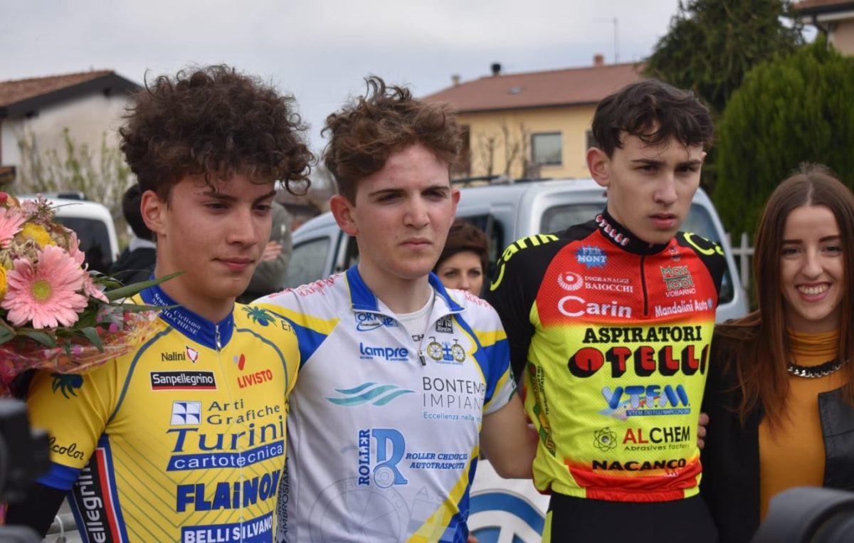 Il podio dell'8° Trofeo Don Giuseppe a.m.