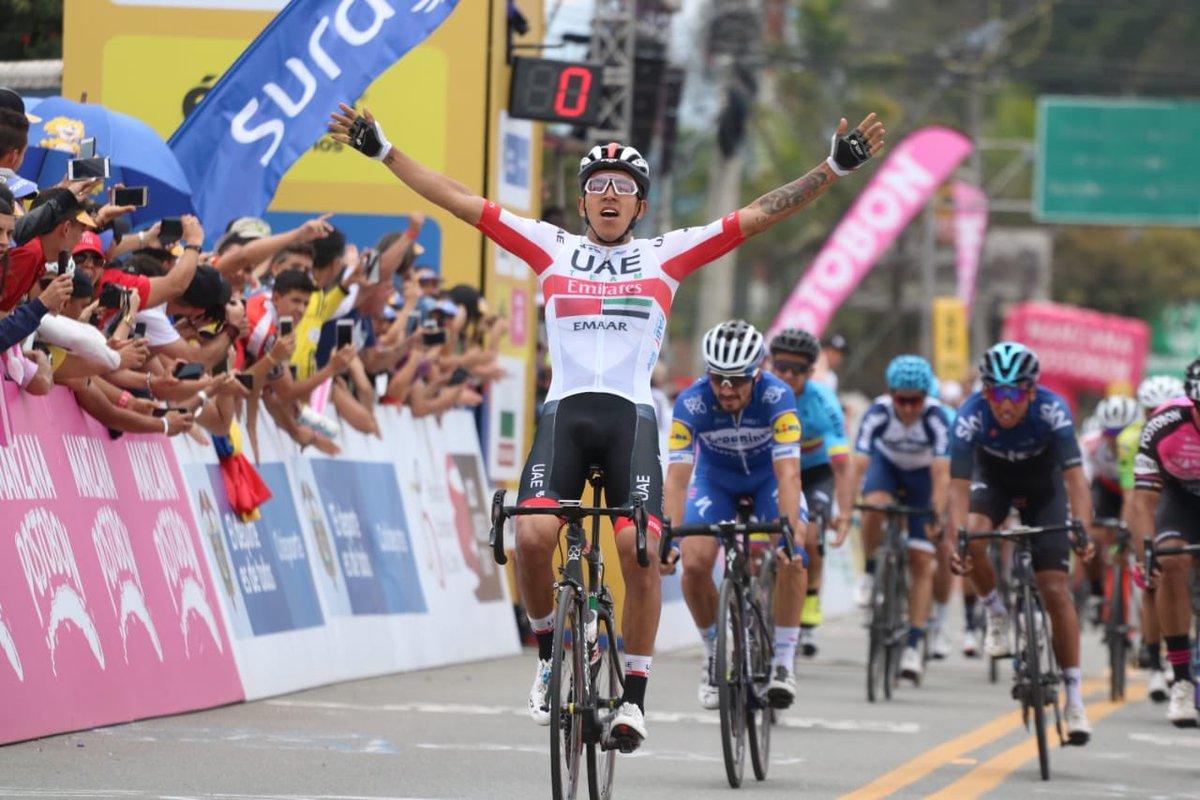 Sebastian Molano vince la terza tappa del Tour Colombia 2019