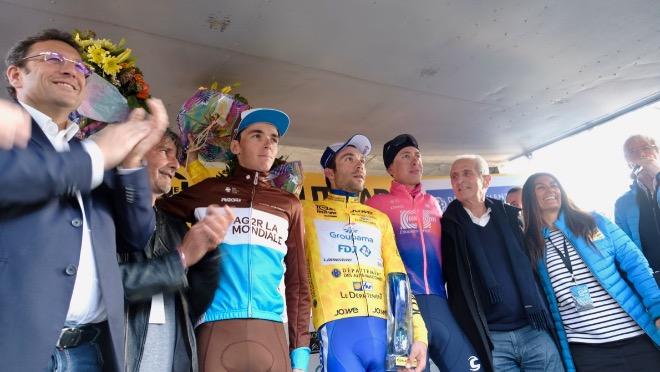 Il podio finale del Tour du Haut Var 2019
