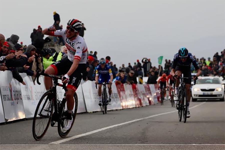 Tadej Pogacar vince la seconda tappa della Volta ao Algarve