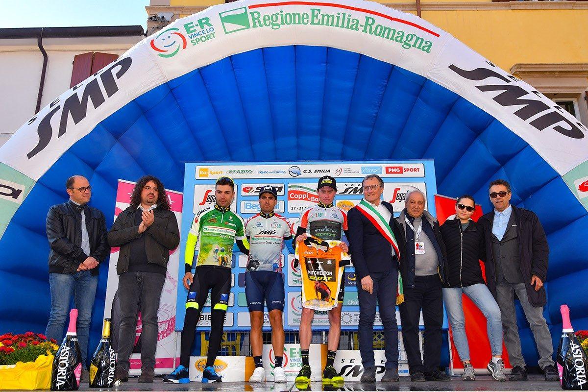 Le maglie dopo la seconda tappa della Settimana Coppi e Bartali 2019 (foto Bettini)