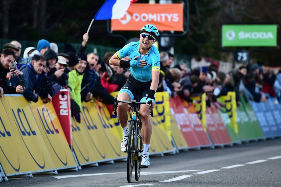 Magnus Cort Nielsen vince la quarta tappa della Parigi-Nizza 2019 (foto A.S.O.)