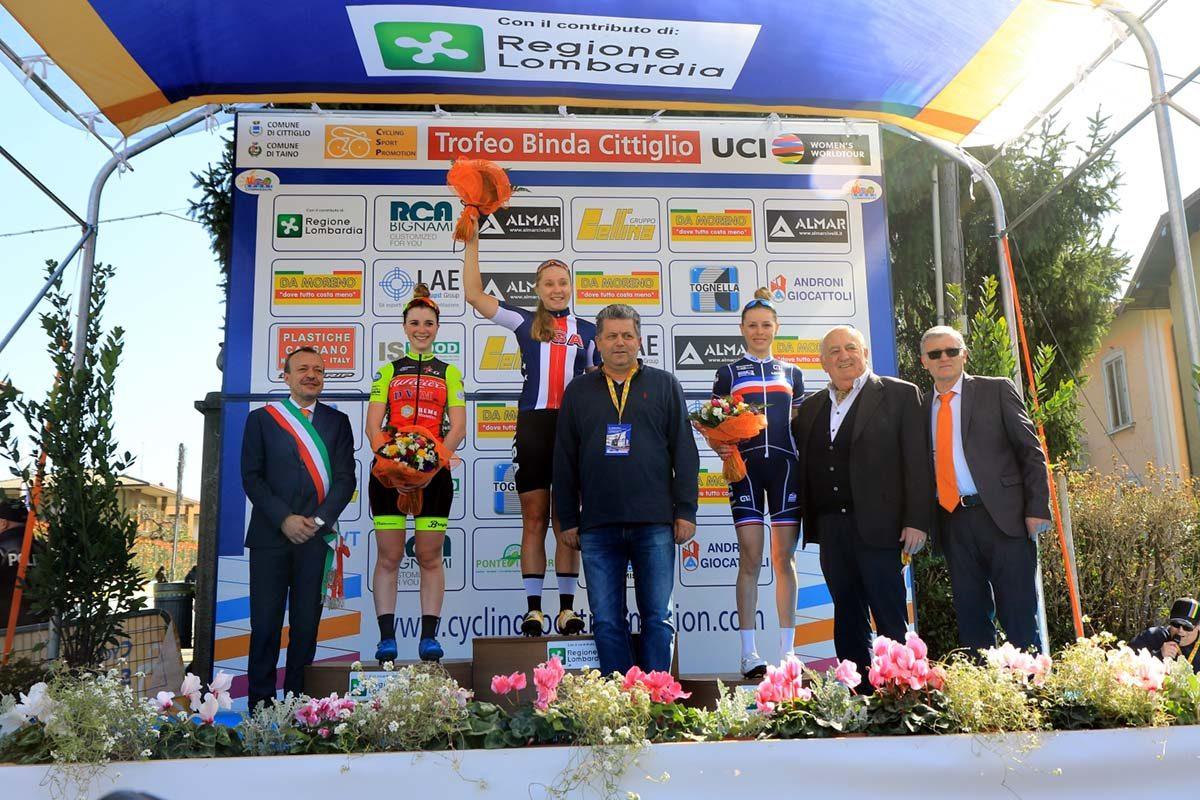 Il podio del Trofeo Da Moreno 2019 con le autorità