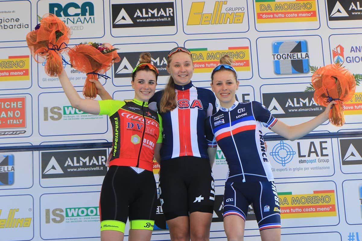 Il podio del Trofeo Da Moreno 2019 (foto Fabiano Ghilardi)
