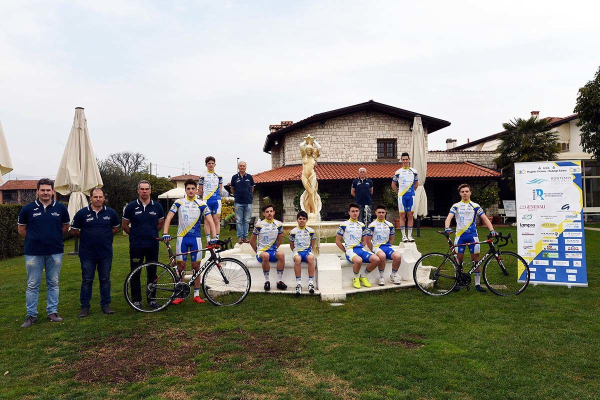 Il gruppo Allievi della Progetto Ciclismo Rodengo Saiano 2019