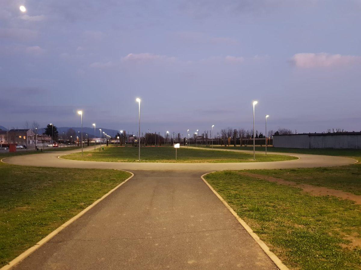 Il Ciclodromo di Rodengo Saiano illuminato