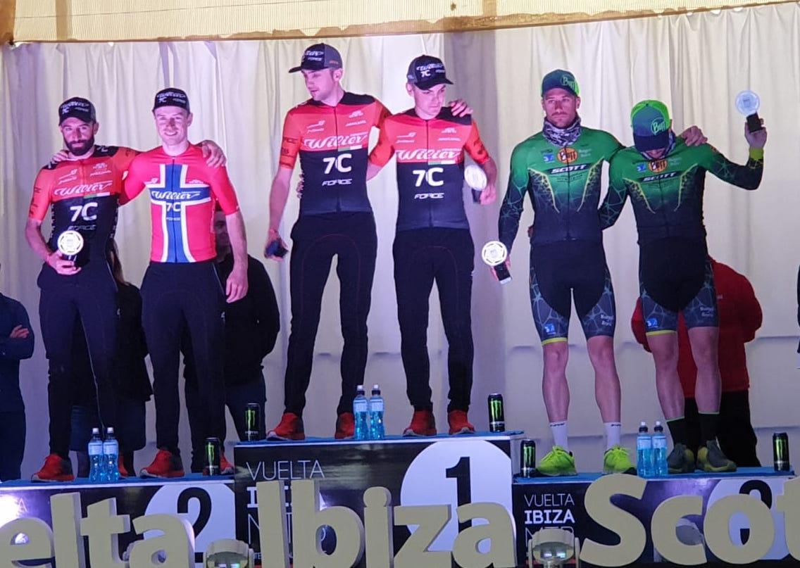 Vuelta a Ibiza: il podio dell'ultima tappa