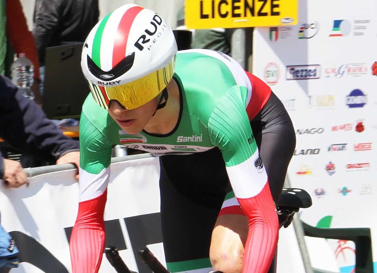 Andrea Piccolo vincitore della cronometro Juniores di Città di Castello