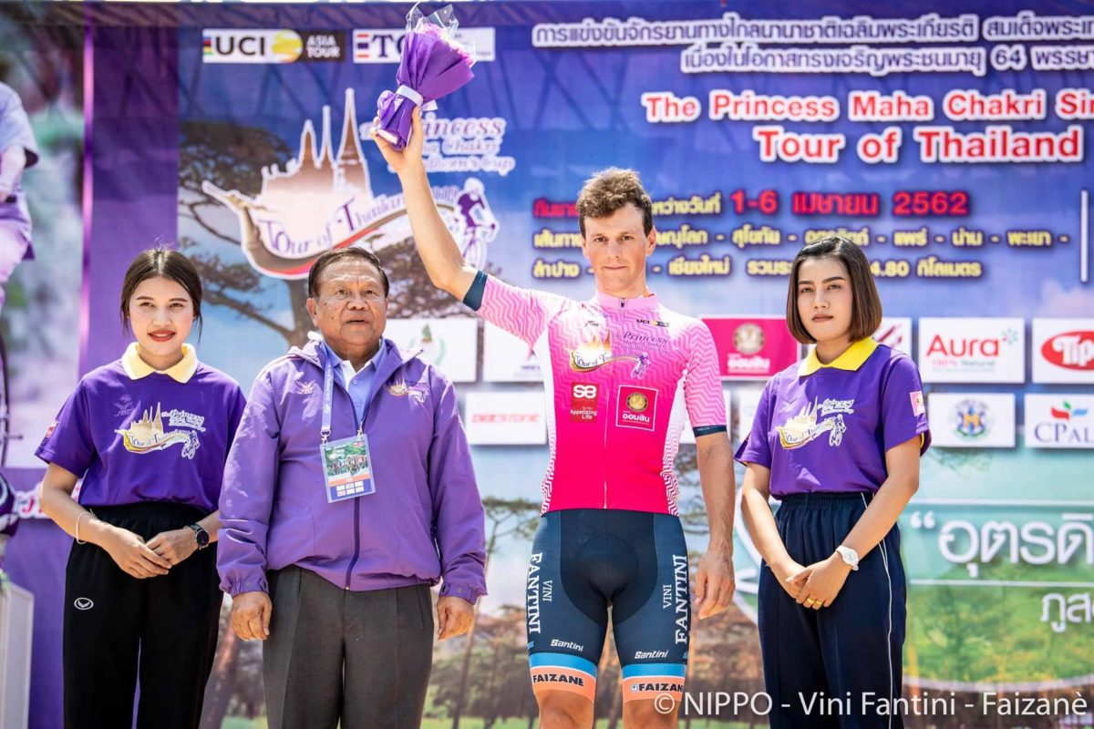 Giovanni Lonardi primo leader del Tour of Thailand