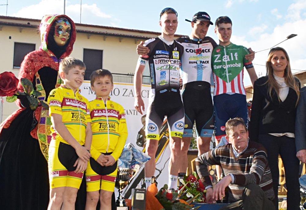 Il podio del Trofeo Zanchi 2019 a Castiglion Fibocchi