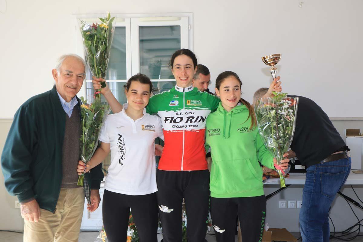 Il podio Donne Esordienti del Gp La Mole (foto Fabiano Ghilardi)