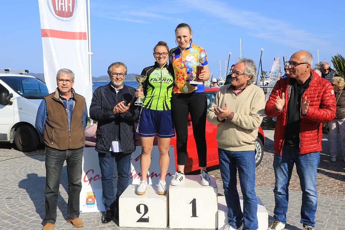 Il podio Donne Allieve (foto Fabiano Ghilardi)