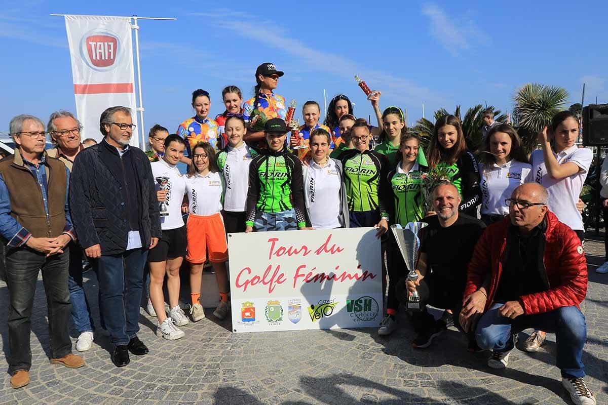 Festa delle ragazze del Gs Cicli Fiorin al Gp de Cavalaire (foto Fabiano Ghilardi)