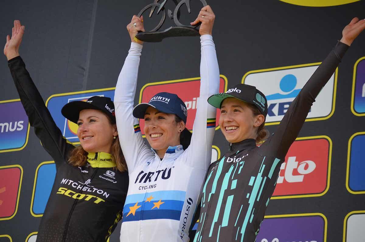 Marta Bastianelli del Giro delle Fiandre femminile 2019 (foto Fabiano Ghilardi)