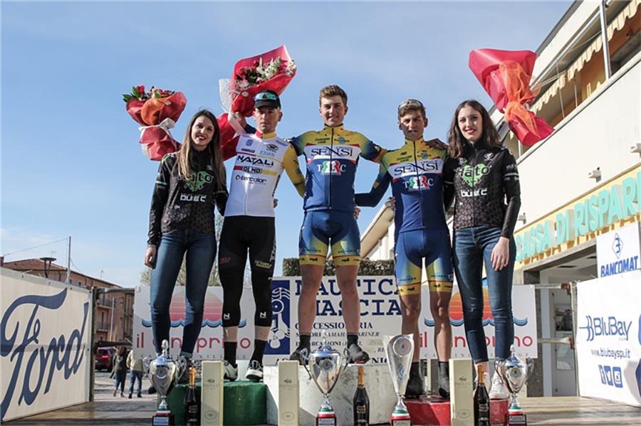 Il podio del 18° Trofeo Ledo Tempestini (foto Silvia Previtera)