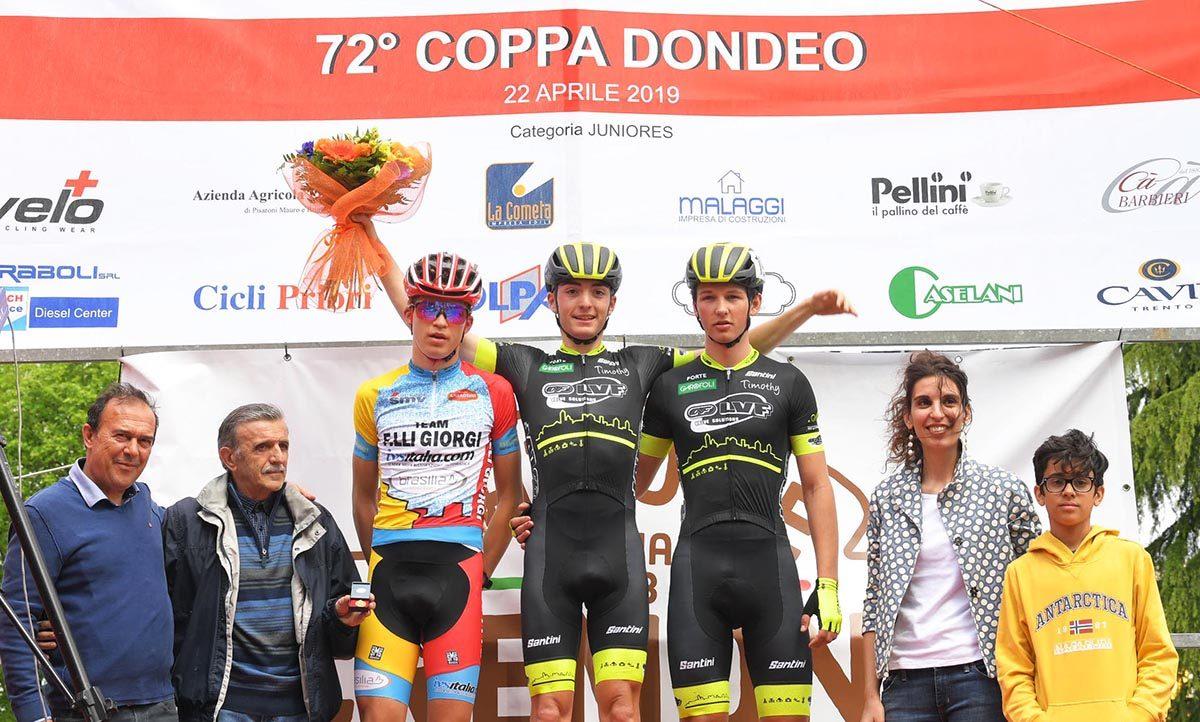 Il podio della Coppa Dondeo 2019 (foto Rodella)