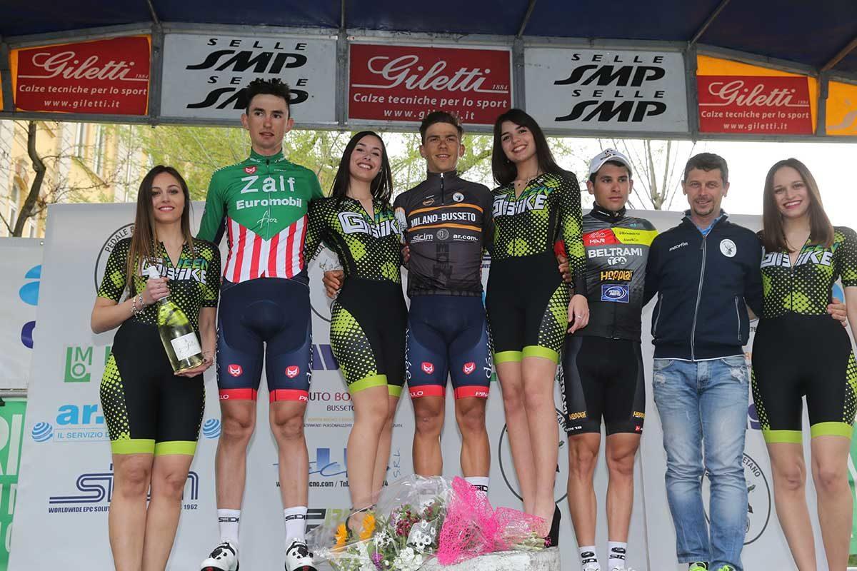 Il podio della Milano-Busseto 2019 (foto Soncini)