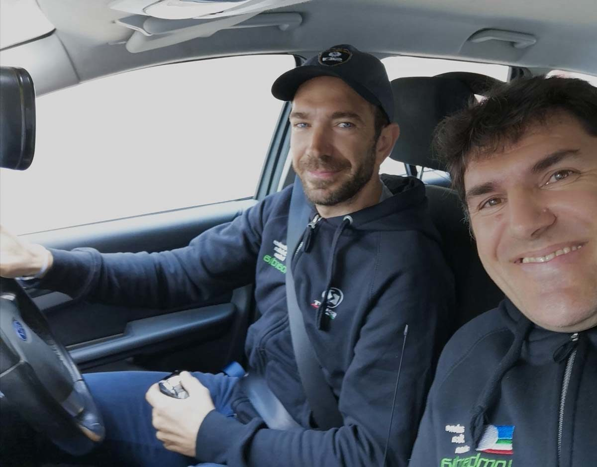Alessandro Vanotti con Marco Cannone in ammiraglia