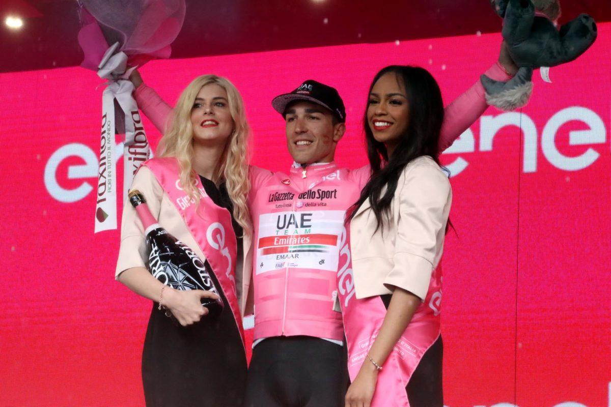 La maglia rosa Valerio Conti