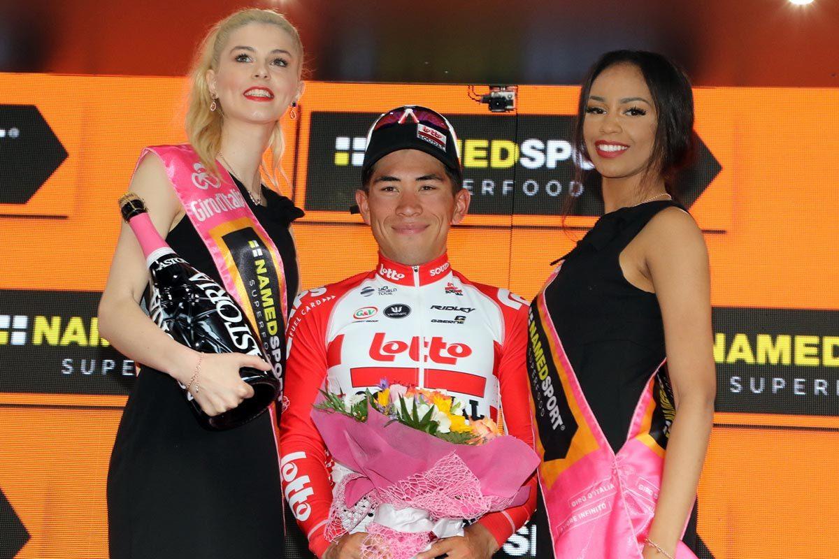 Caleb Ewan vincitore dell'ottava tappa del Giro d'Italia 2019 (foto Photobicicailotto)