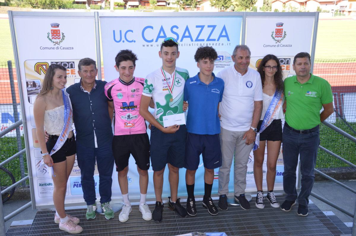 Il podio del 24° Trofeo Comune di Casazza