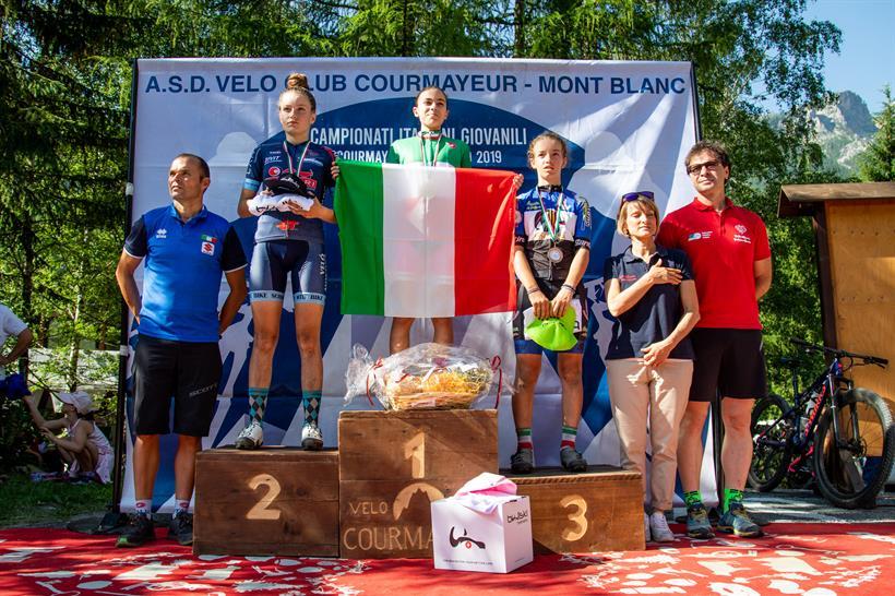 Il podio del Campionato Italia Donne Esordienti 1° anno vinto da Beatrice Temperoni