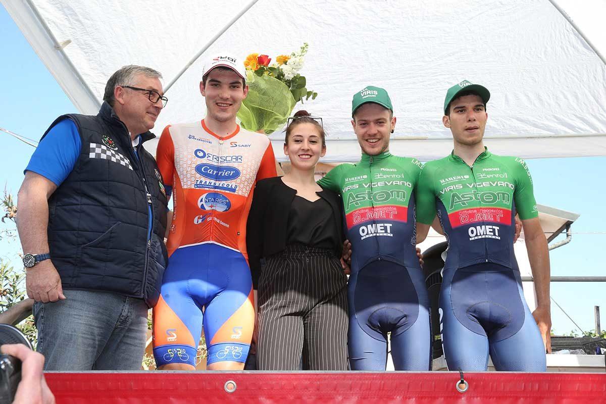Il podio di Stagno Lombardo (foto Rodella)