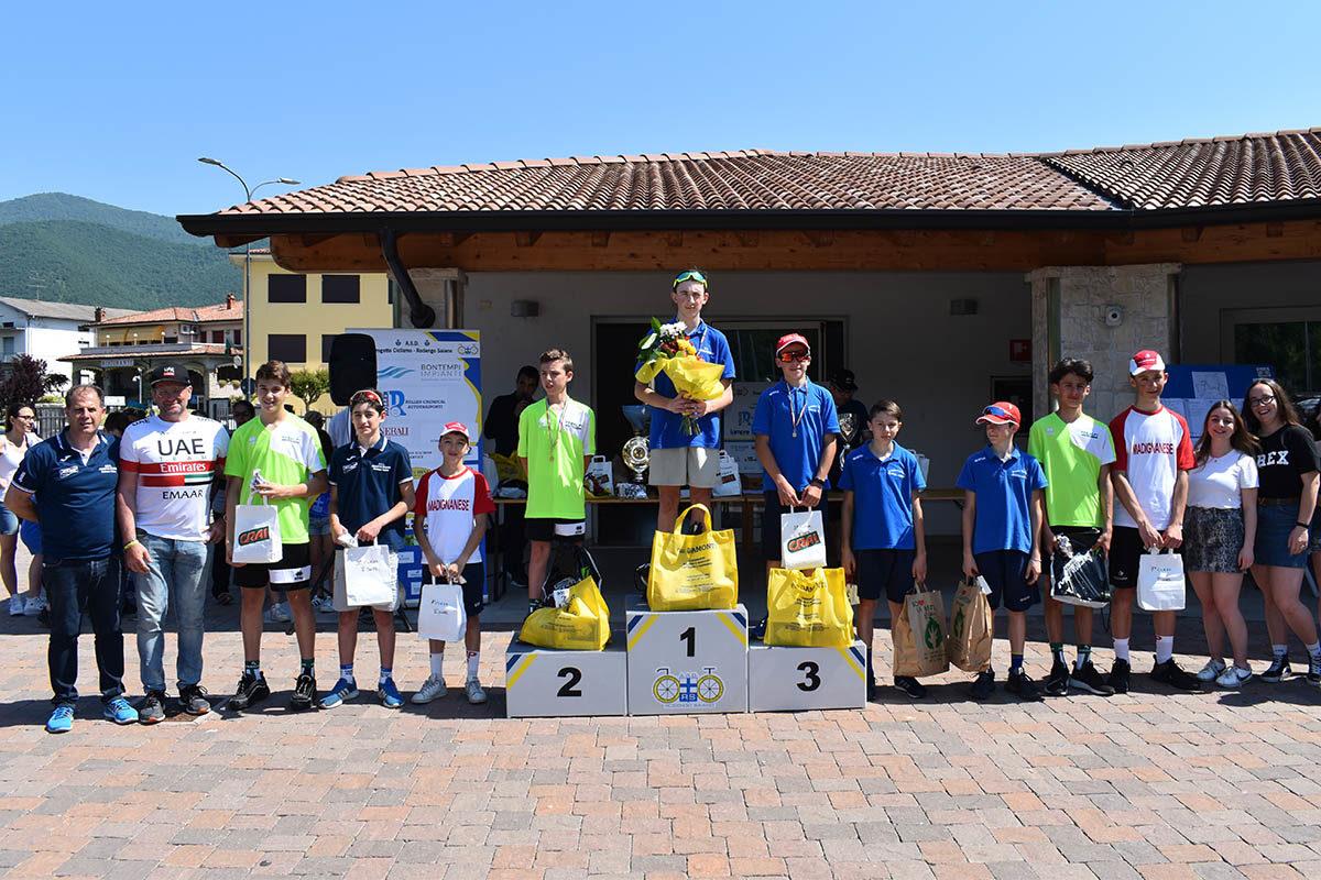Premiazione Esordienti 1° anno a Monticelli Brusati (foto Luca Bontempi)