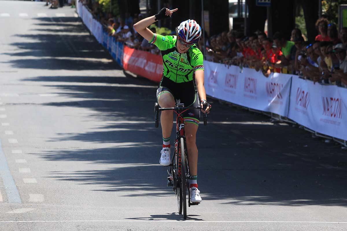 Federica Venturelli vince il Campionato Italiano Donne Esordienti 2° anno a Chianciano Terme (foto Fabiano Ghilardi)