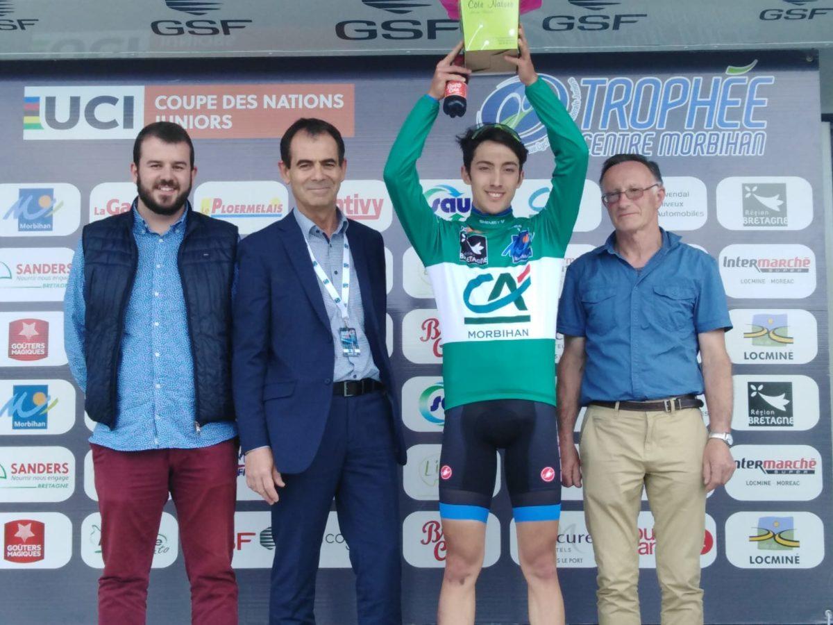 Gregorio Butteroni festeggia la vittoria al Trophee Centre Morbihan
