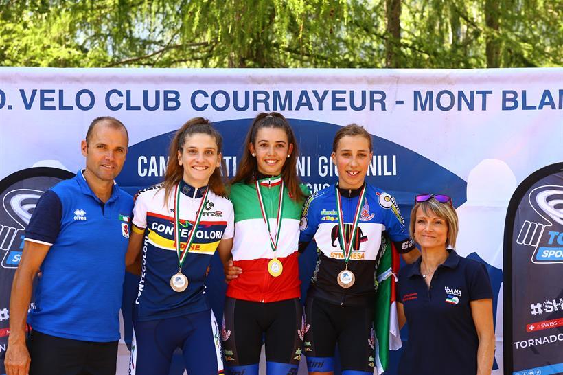 Il podio del Campionato Italia Donne Allieve 1° anno vinto da Sophie Auer