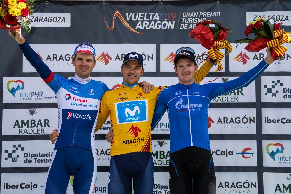 Il podio finale della Vuelta Aragon 2019