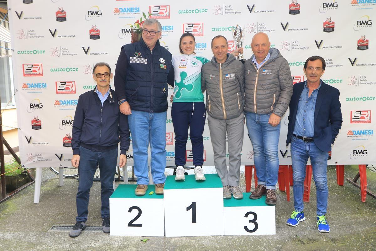 Emma Redaelli campionessa lombarda a cronometro Donne Allieve a Romanengo (foto Fabiano Ghilardi)